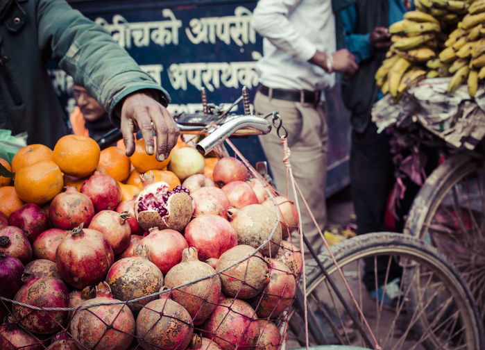 Fruktselger i Kathmandu