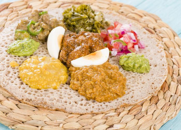 tradisjonell ethiopisk måltid