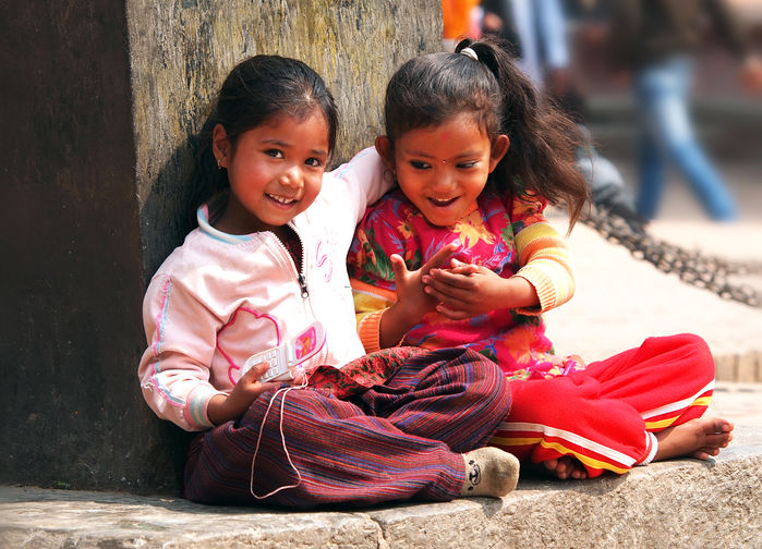 Nepalesiske barn i Kathmandu
