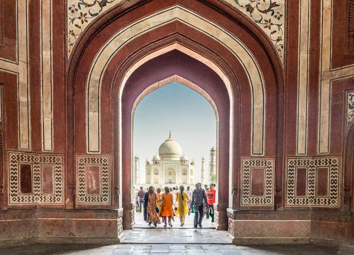 Taj Mahal fra inngangen