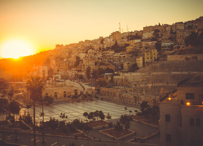 Solnedgang over Amman